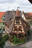 Rothenburg ob der Tauber : On our way to Ulm we stopped to visit Rothenburg, a well-preserved little medieval town.  The buildings look the same way they have for centuries (even the paint color) and it's quite the bustling tourist destination.  I loved the old buildings and the sense of history there, especially the ancient city walls which were built around the 1300s.  You can climb them and walk around the entire city.