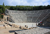 Epidaurus - Sept 30 : (Click links for more info.)  Our next stop was Epidaurus, home of Apollo's son Asclepius the healer.  We made a quick stop in the museum, but the highlight of our visit was the theatre, which is famous for is incredible acoustics.  Performances are still given in this theatre...  You can hear very minute sounds made from the center, so I can only imagine what music sounds like from there.