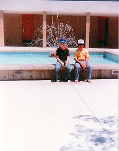 Grand Canyon trip 1984 - Barry & Anthony Gonzales.