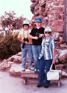 Grand Canyon 1984 - Barry & Anthony Gonzales with Grandma Louise.