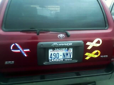 I think this minivan could use some patriotism.